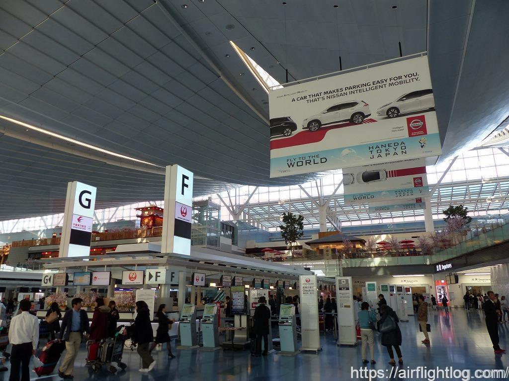 JAL羽田空港チェックインカウンター