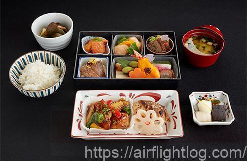 JALビジネスクラス和食