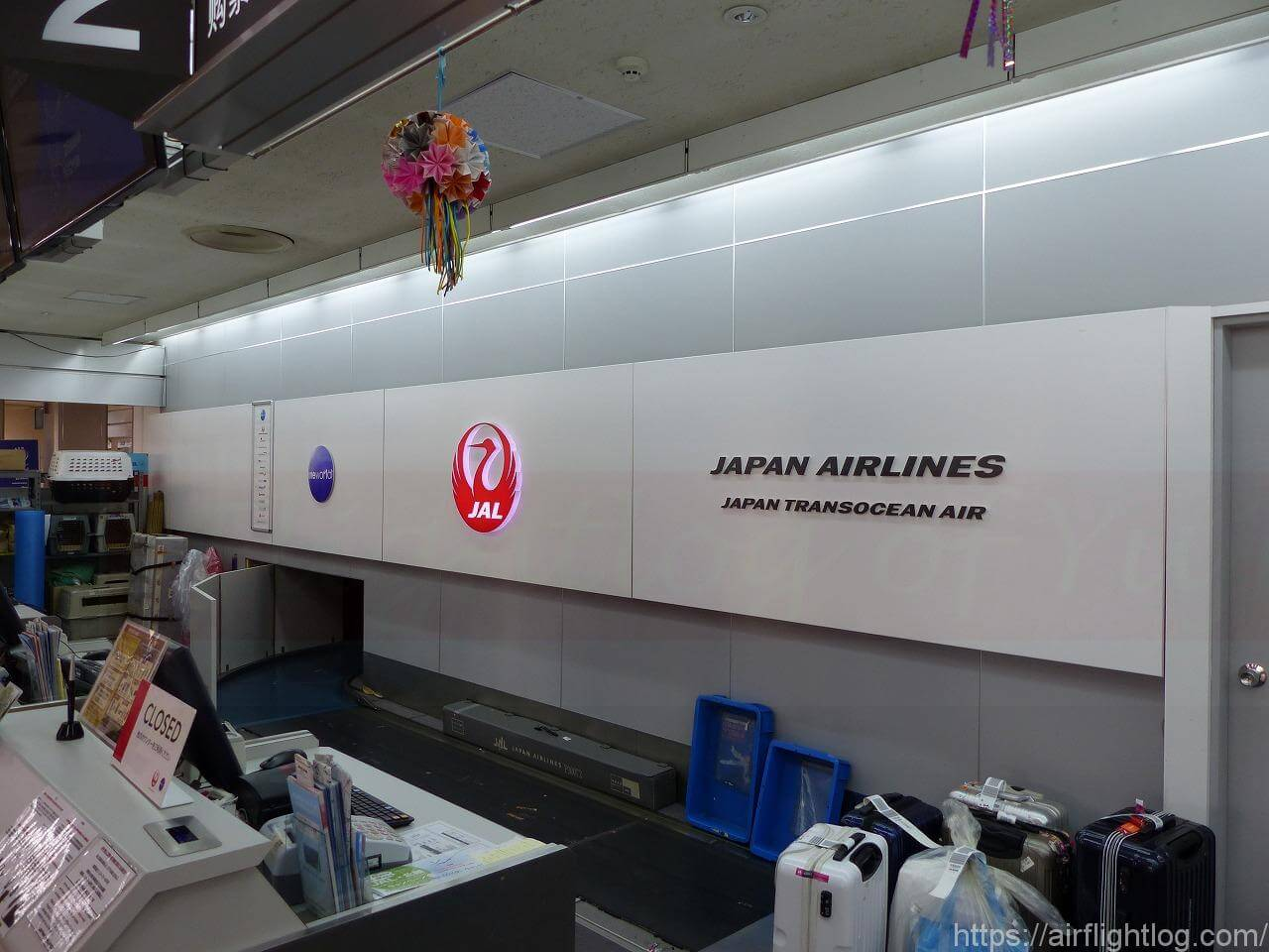 小松空港JALサクララウンジ チェックインカウンター