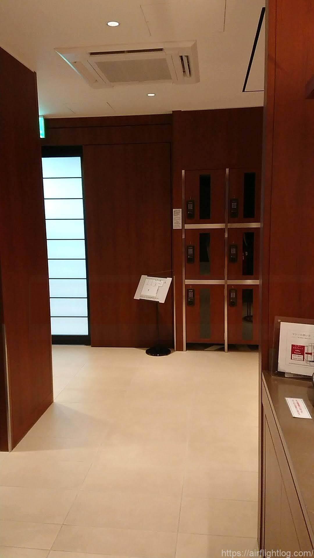 小松空港JALサクララウンジ電子キーロッカー