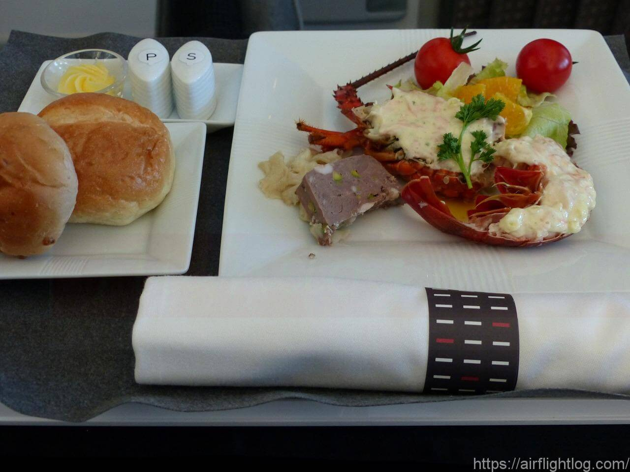 JAL中部空港専用ビジネスクラス機内食