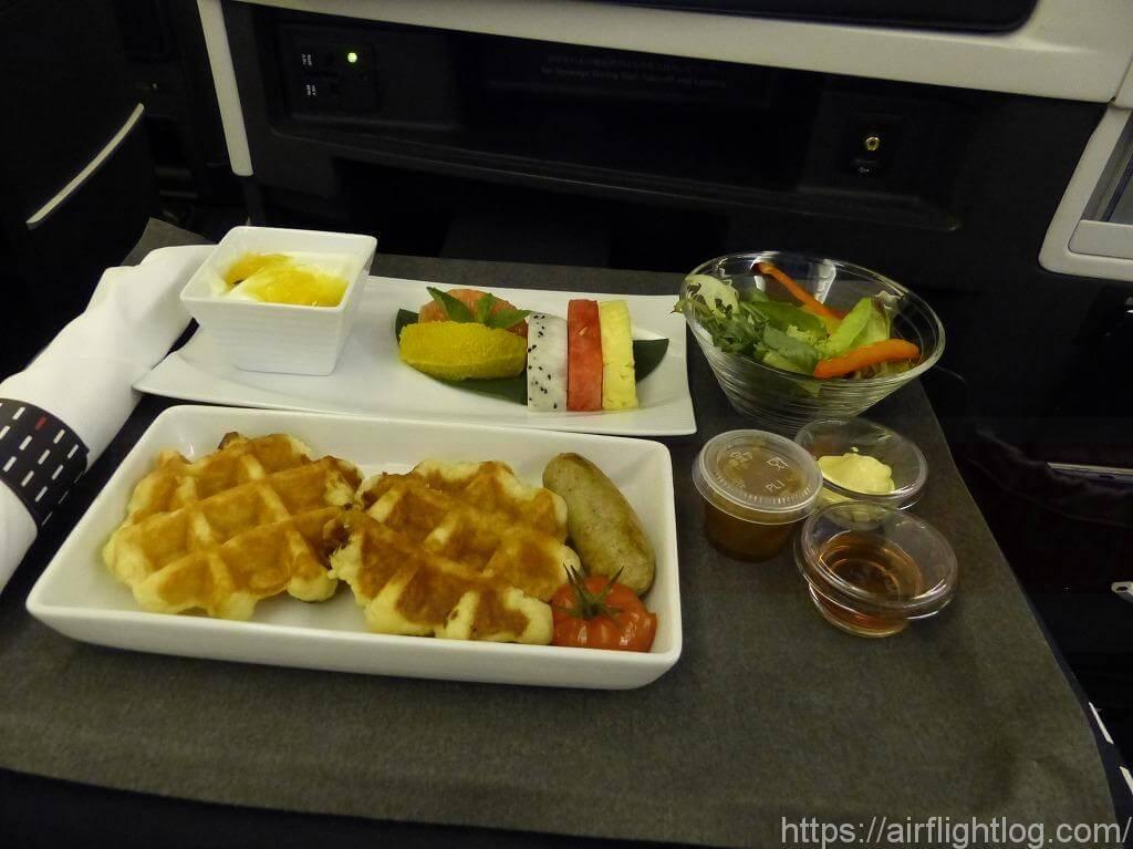 JALビジネスクラスメニュー:シンガポール発