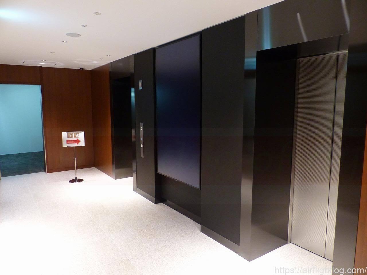 伊丹空港ダイヤモンド・プレミア専用エレベーター