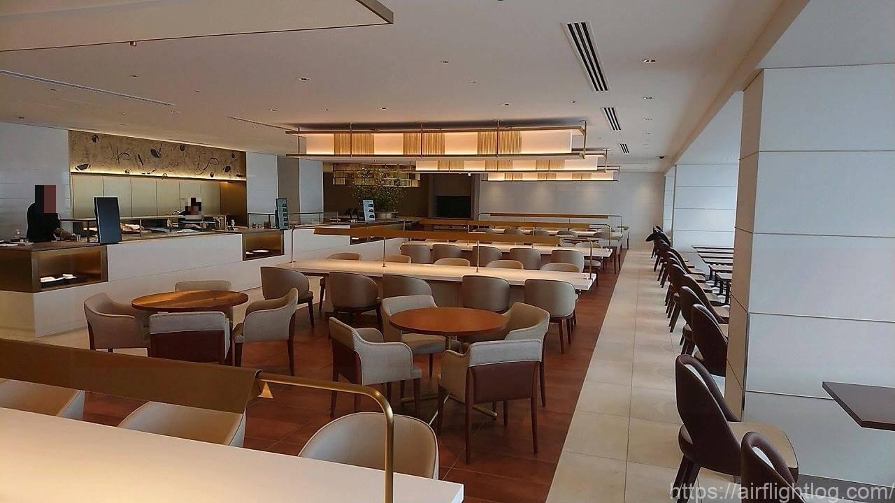 JAL成田空港ファーストクラスラウンジ「JAL's Table」