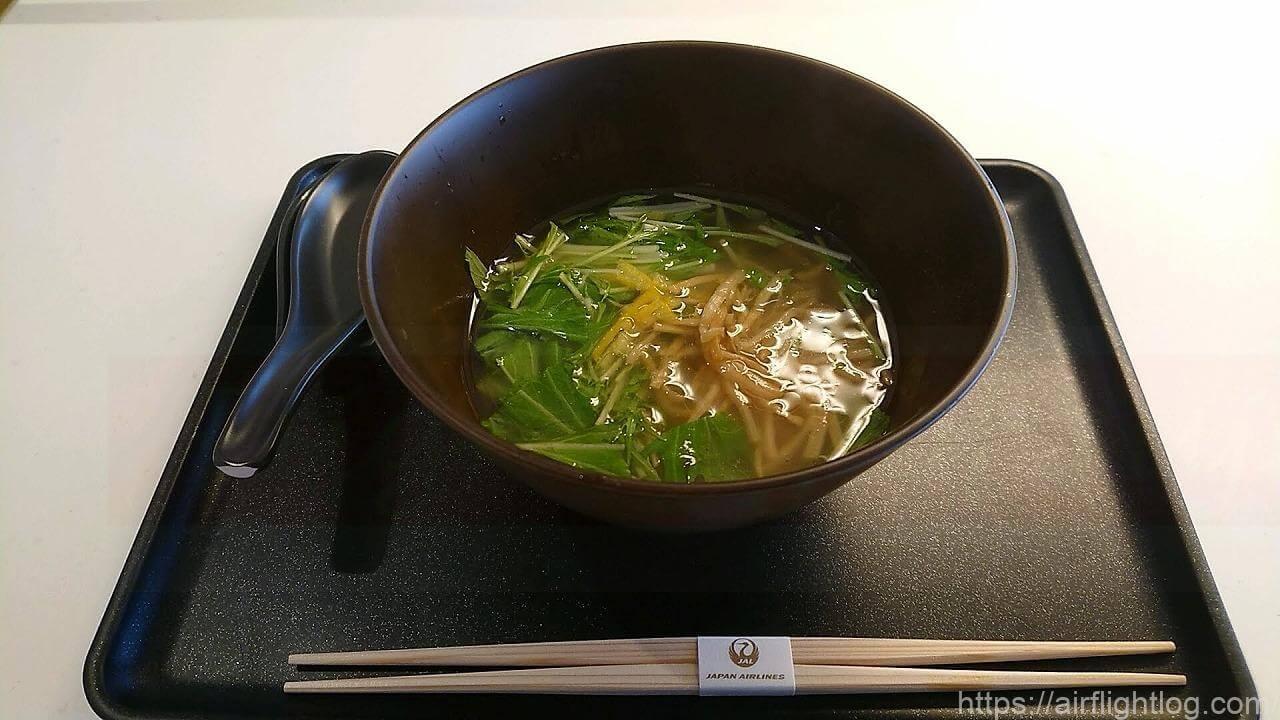 JAL成田空港ファーストクラスラウンジ「JAL's Table」AFURI(阿夫利)柚子塩ラーメン