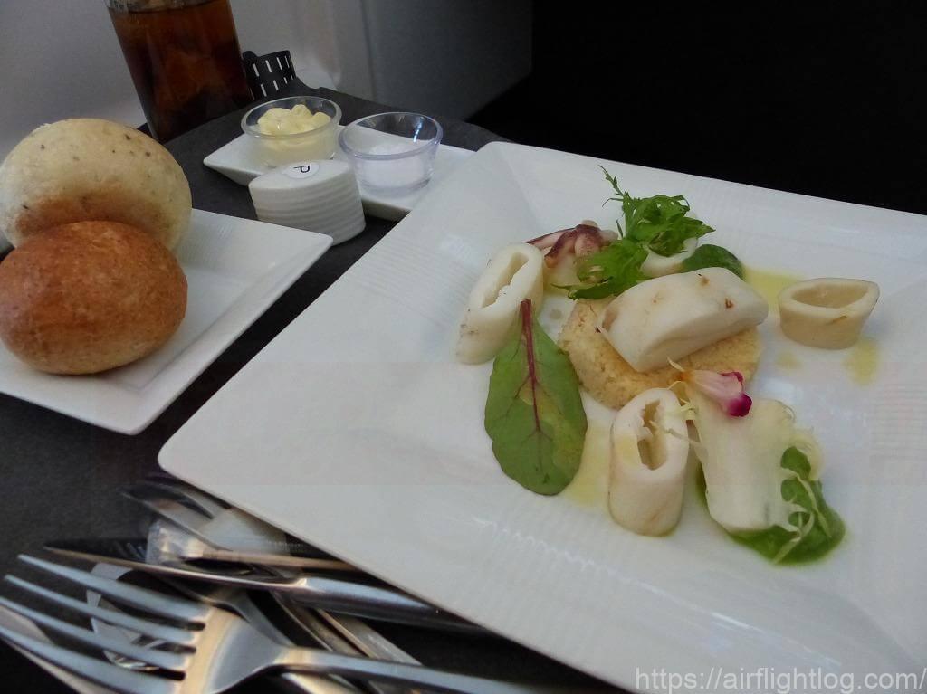 JALビジネスクラス機内食(洋食)