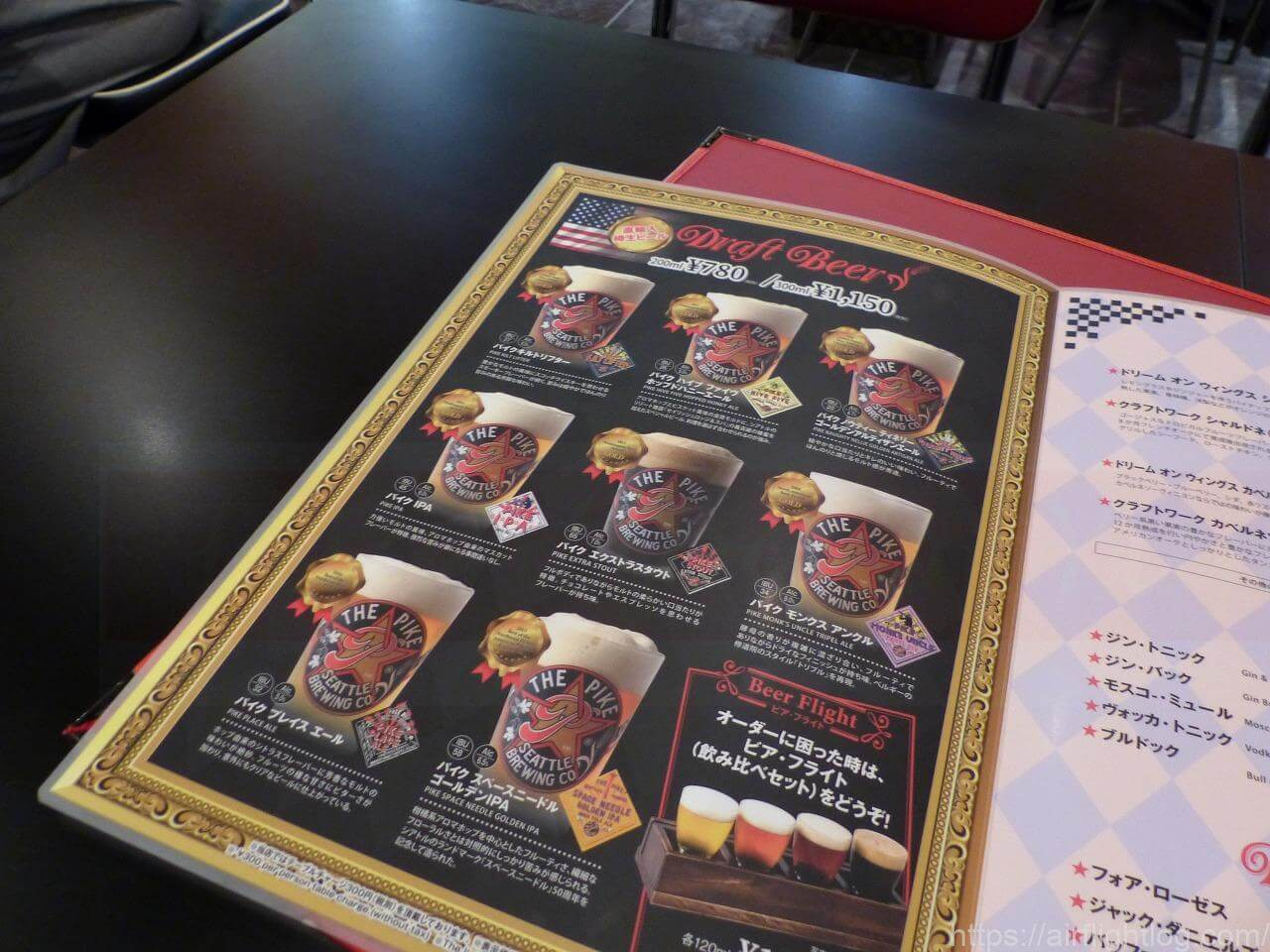 THE PIKE BREWING RESTAURANT & CRAFT BEER BARビールメニュー