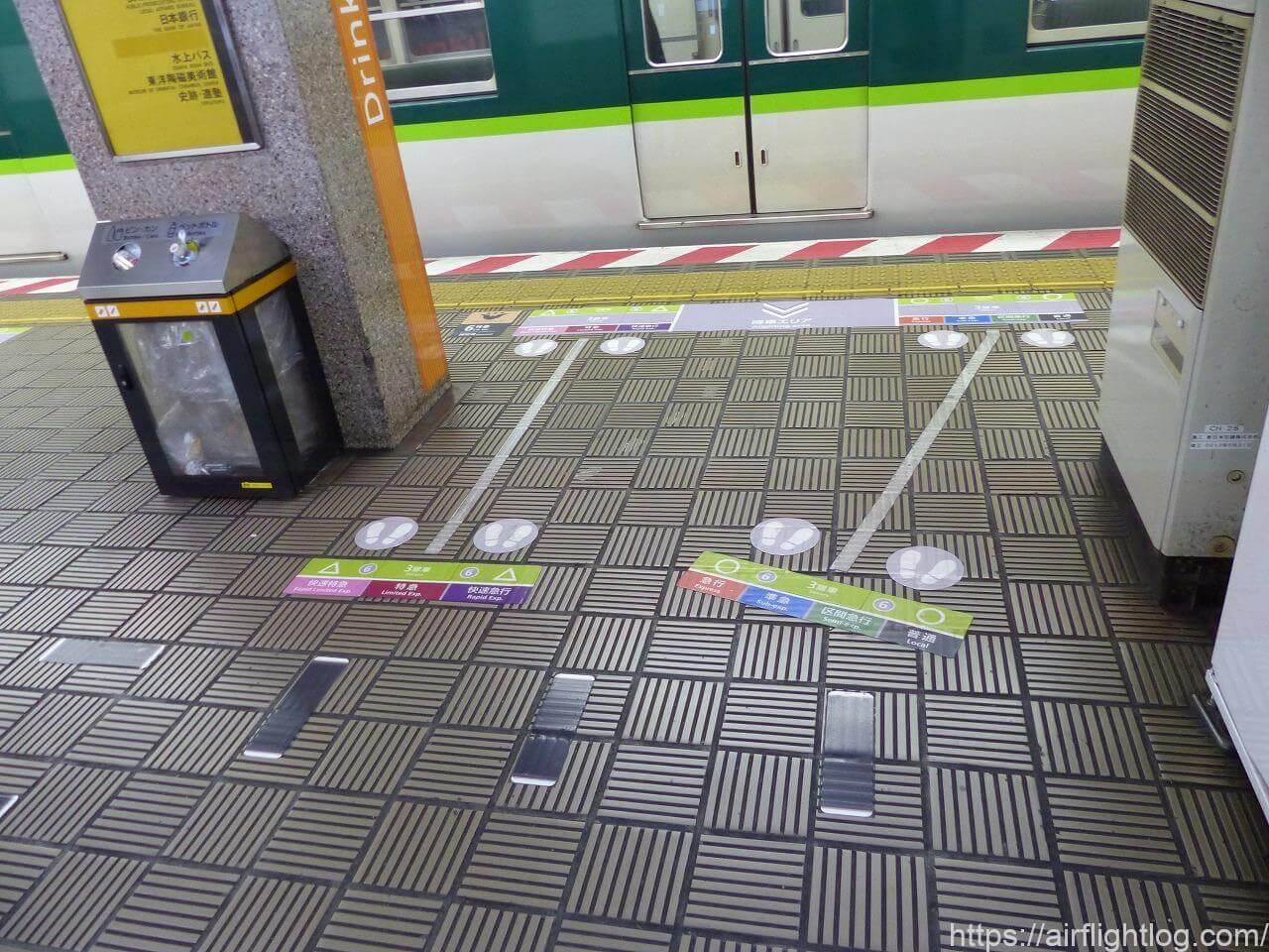 京阪プレミアムカー乗車位置案内